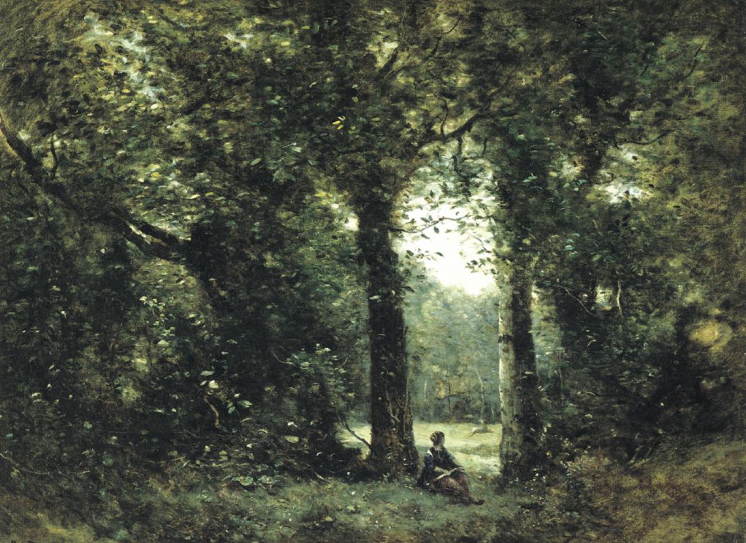 """""""La radura, ricordo di Ville d'Avray"""", Camille Corot"""