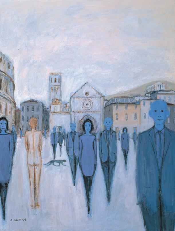 """Elio Gnutti, """"La piazza"""""""