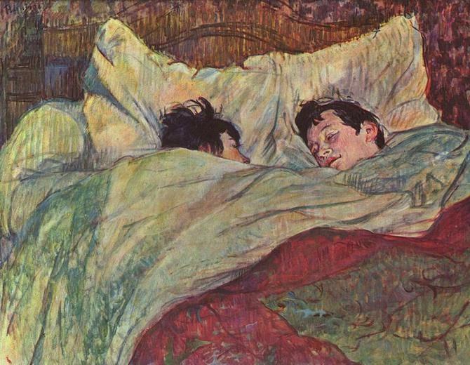 TOULOUSE-LAUTREC - Dans le lit - 1893