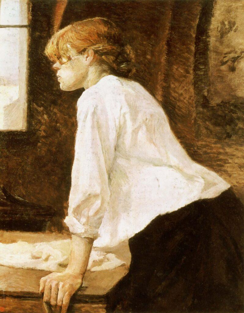 Suzanne Valodon, prima modella, poi pittrice, madre del pittore Utrillo. Fu una delle donne di Toulouse-Lautrec