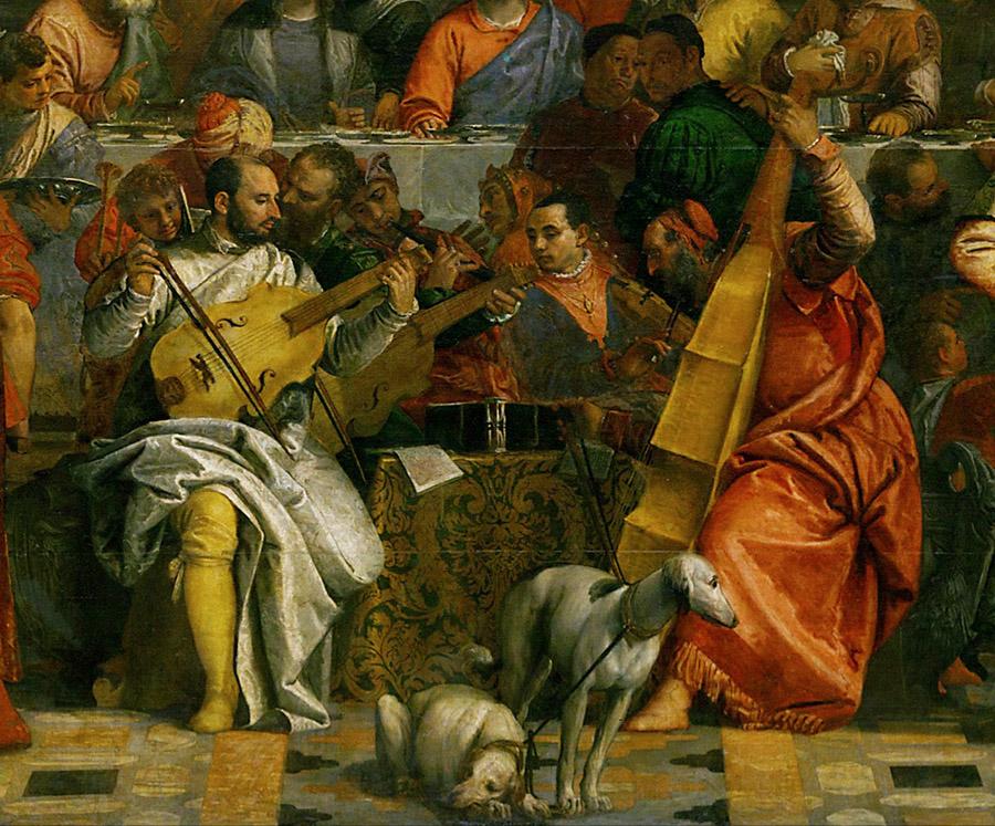 Veronese, Nozze di Cana, particolare, 1562-1563, Parigi, Louvre