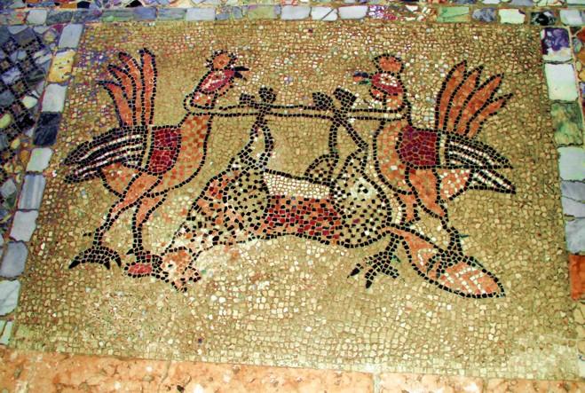 Il funerale della Volpe, mosaico del 1140, Cattedrale di Murano