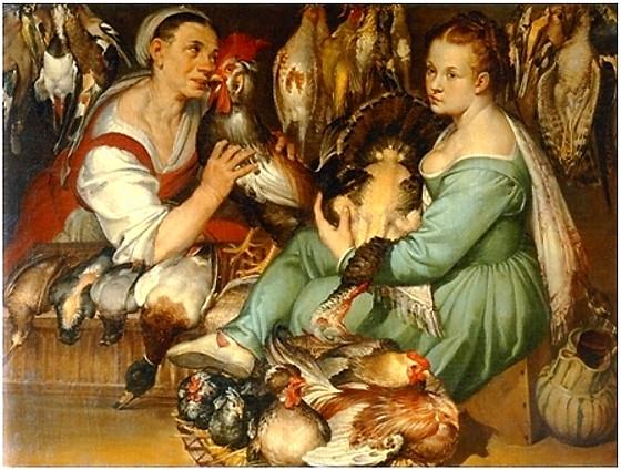 Bartolomeo Passerotti, Le pollivendole, 1580 circa