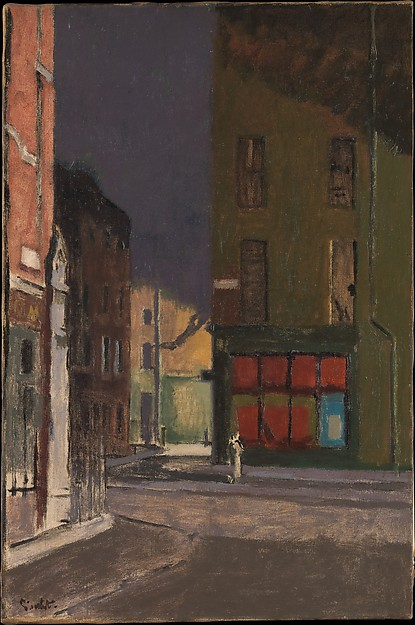 Walter Richard Sickert (British, Munich 1860–1942 Bathampton, Somerset) Maple Street, London, ca. 1922 Oil on canvas; 30 × 20 in. (76.2 × 50.8 cm) The Metropolitan Museum of Art, New York, Gift of Emma Swan Hall, 1998 (1998.451.2) http://www.metmuseum.org/Collections/search-the-collections/490260
