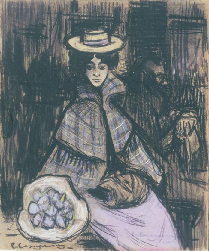 Germaine in un intenso ritratto dipinto da Carlo Casagemas