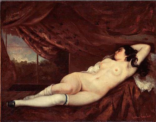 coubert Femme nue couche