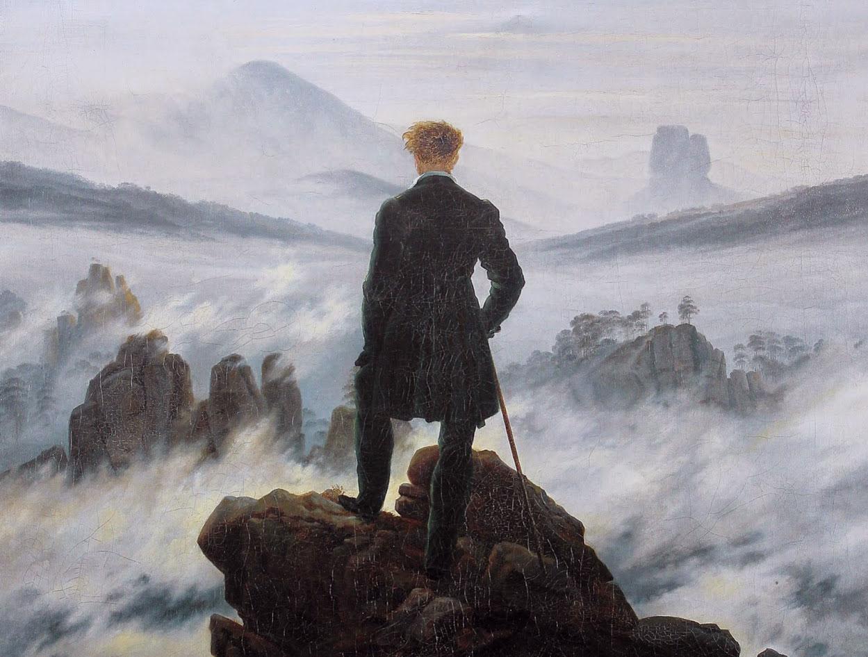 Viandante sul mare di nebbia,1818