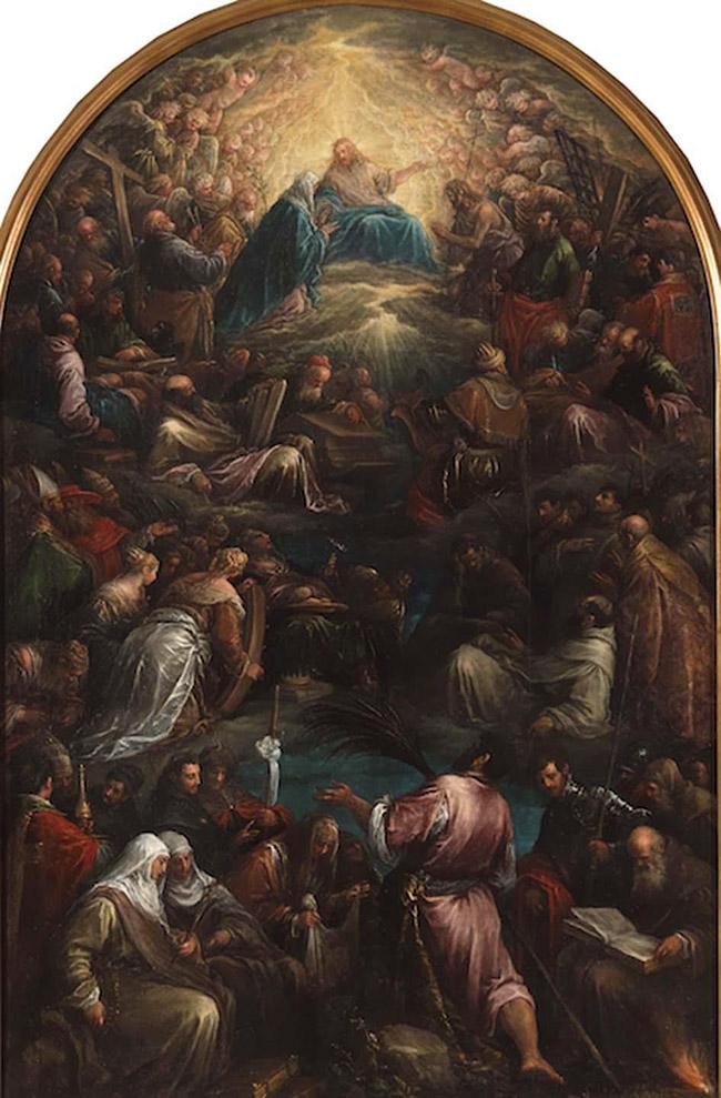 Jacopo Bassano: Il Paradiso, inv.18, sec. XVI (1578-1580) Olio su tela, cm 237×156 Bassano del Grappa, MBA Musei Biblioteca Archivio