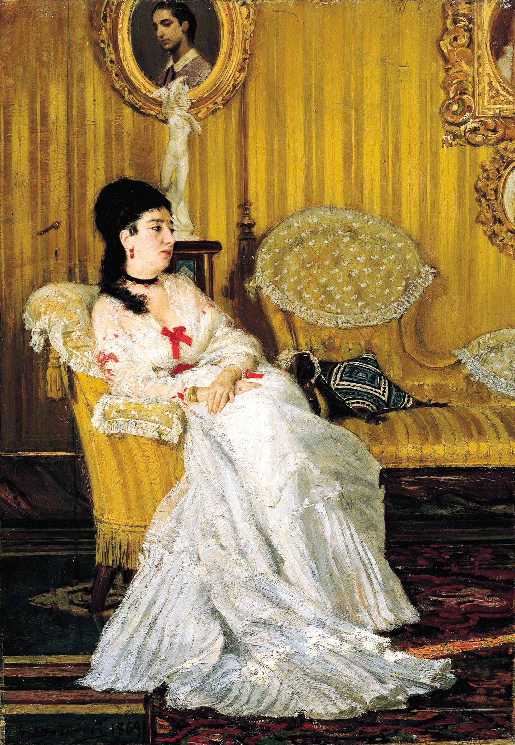 """""""Ritratto della contessa Carlotta Aloisi Papudoff"""", 1869"""