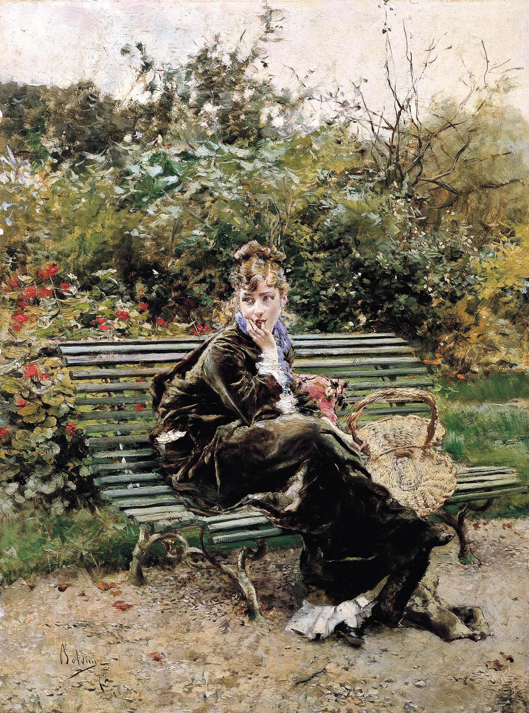 """Sulla panchina al Bois (Hyde Park)"", 1872 (particolare)"