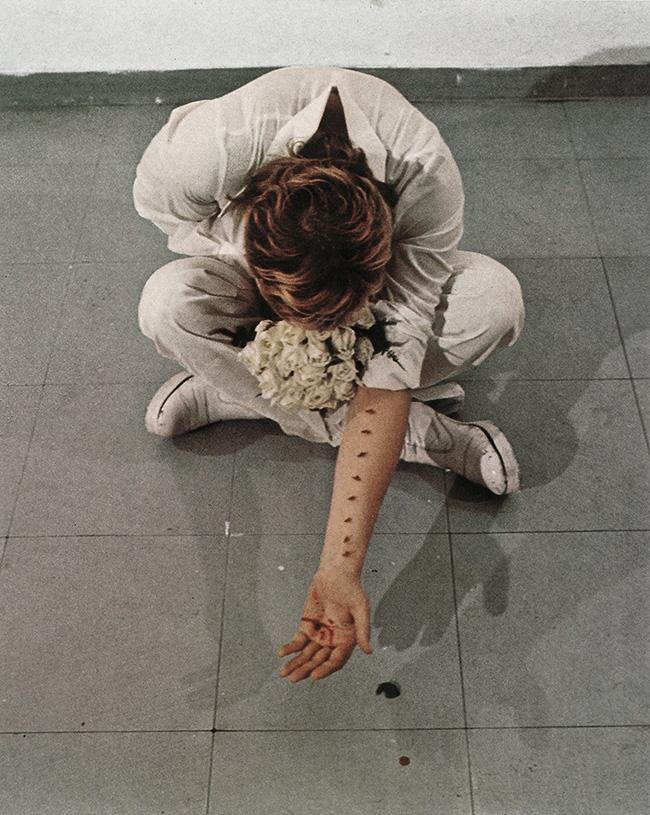 Gina Pane, Azione sentimentale, 1973