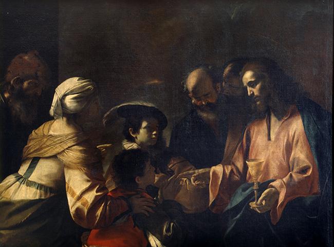 Sinite parvulos Milano, Pinacoteca di Brera inv. 600, olio su tela, cm 143 x 193