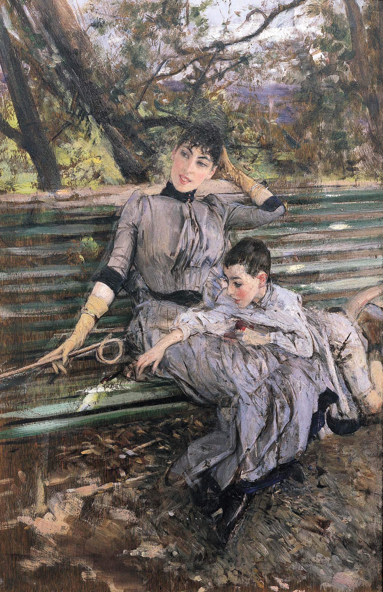"Giovanni Boldini, ""In giardino (Adelaide e Ottavio Banti)"", 1885"