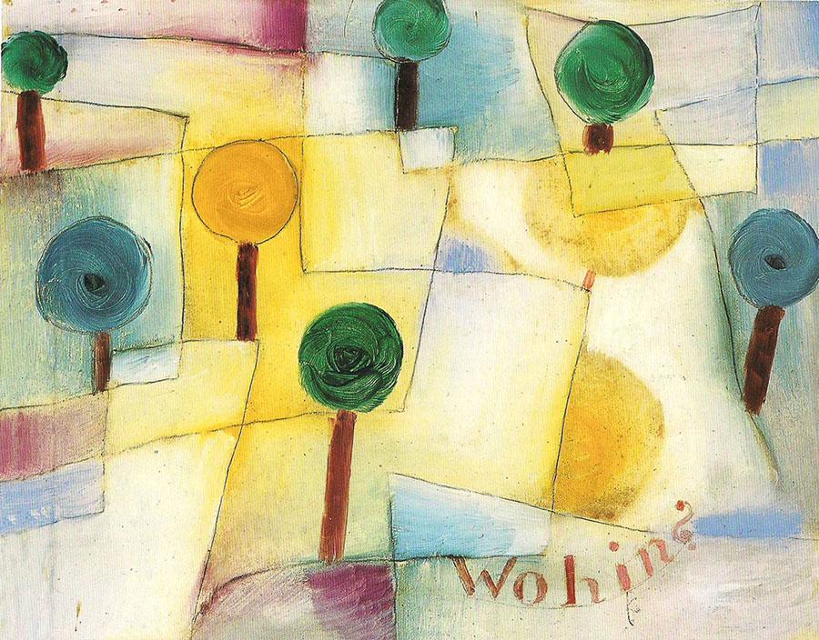 Paul Klee: WohinJunger Garten, 1920, olio su carta su cartone, Museo comunale città di Locarno