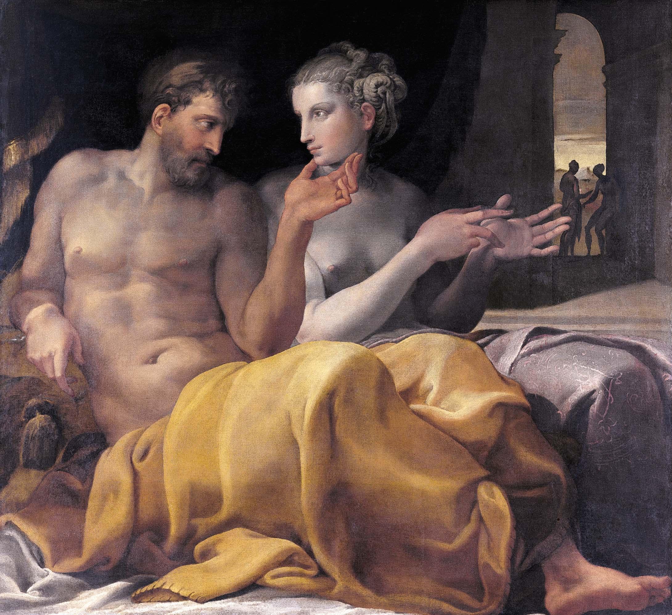 """""""Penelope racconta a Ulisse le prove subite durante la sua assenza"""""""