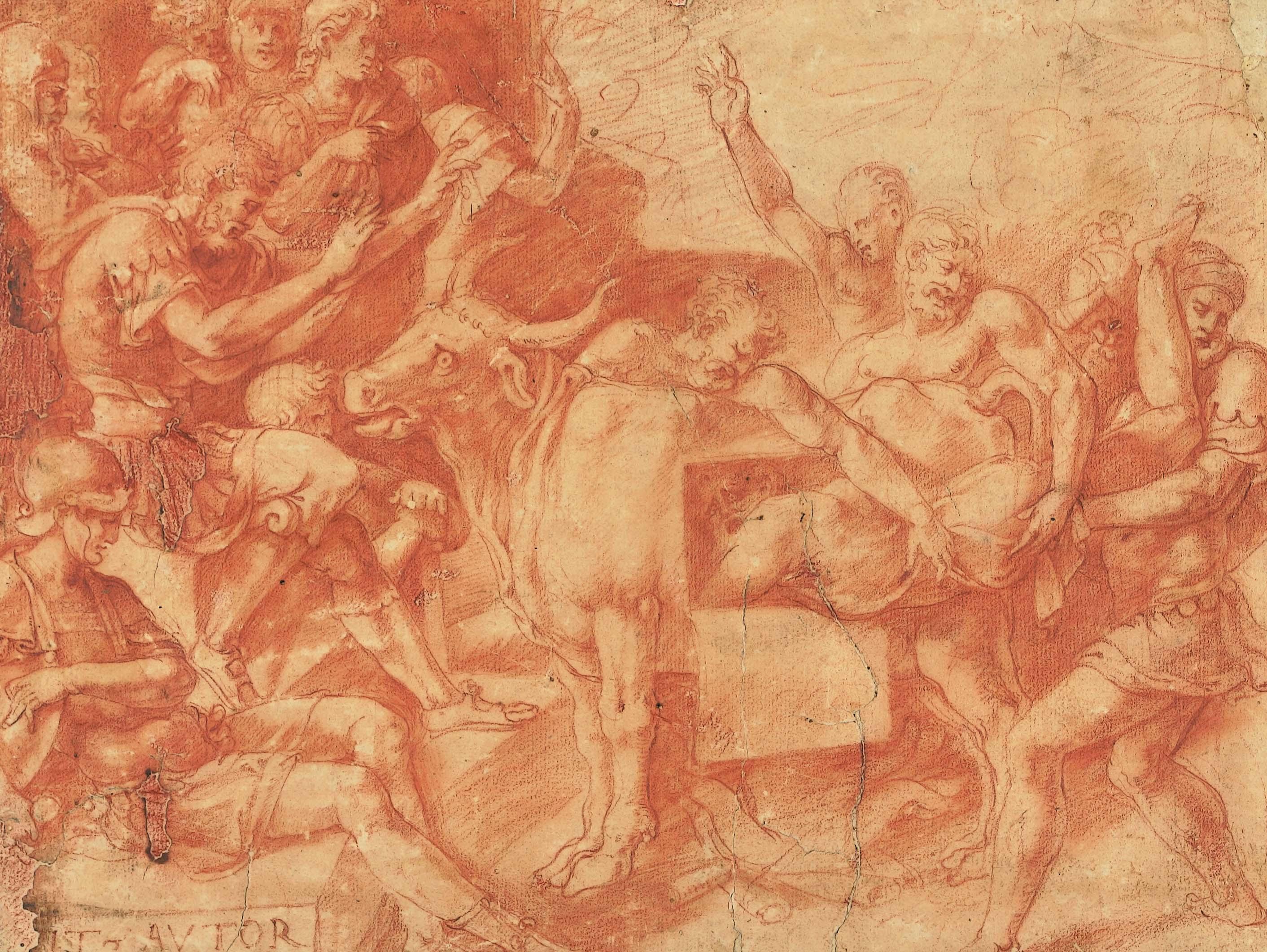 """Francesco Primaticcio, """"Il supplizio di Perillo nel toro di bronzo"""""""