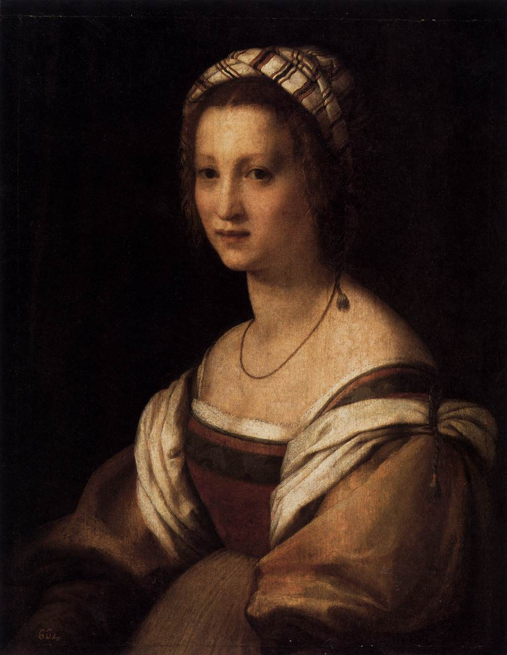 La moglie Lucrezia, ritratta da Andrea nel 1513