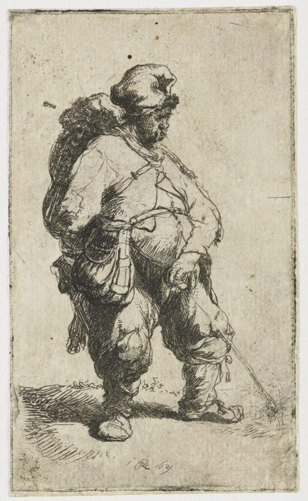 Rembrandt 1631 Uomo che orina 8.3 x 4.9 cm