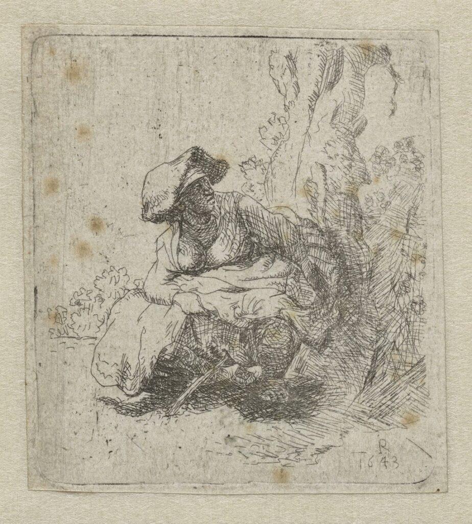 Rembrandt donna che orina 7.5 x 6.8 cm