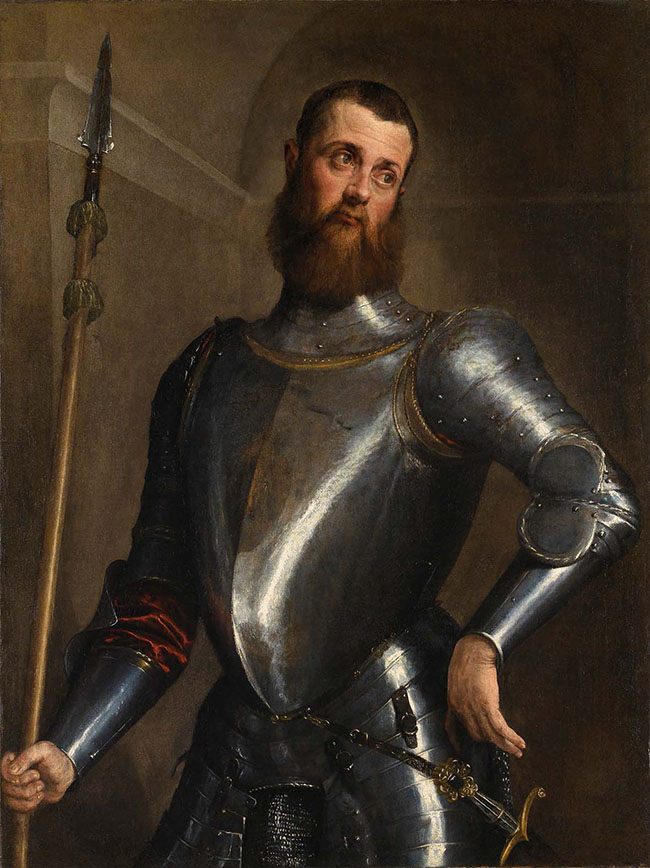 Jacopo Bassano: Il ritratto di uomo in armi