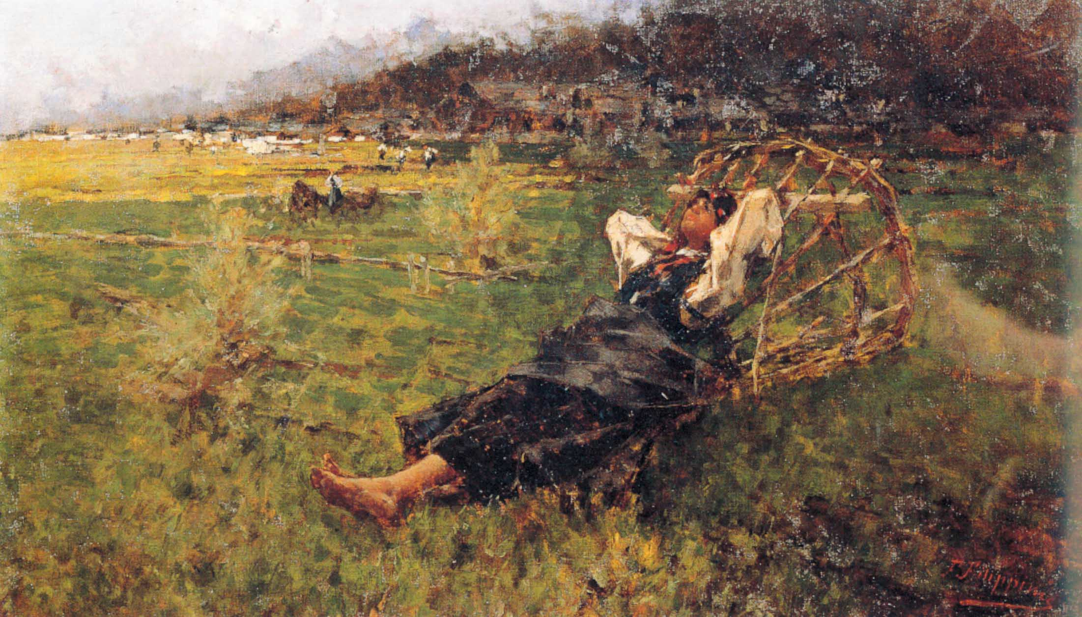 "Francesco Filippini, ""Contadinella a riposo"", 1892-93 circa"