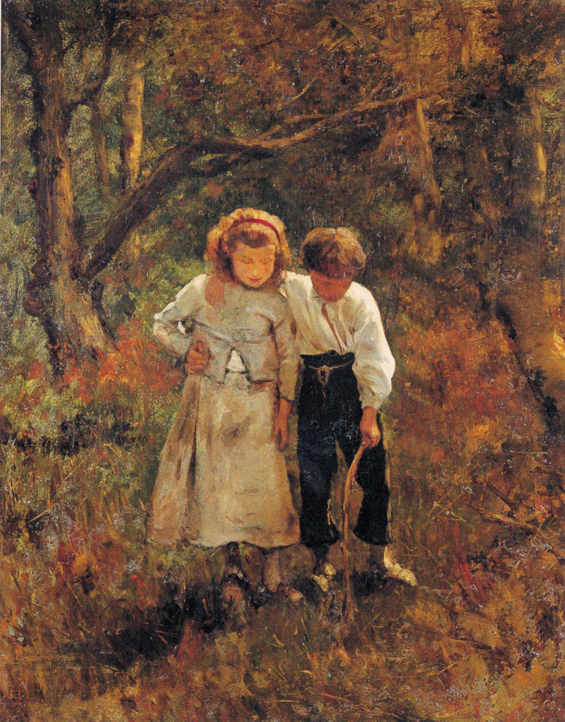"""In cerca di funghi"", 1879-80 circa"