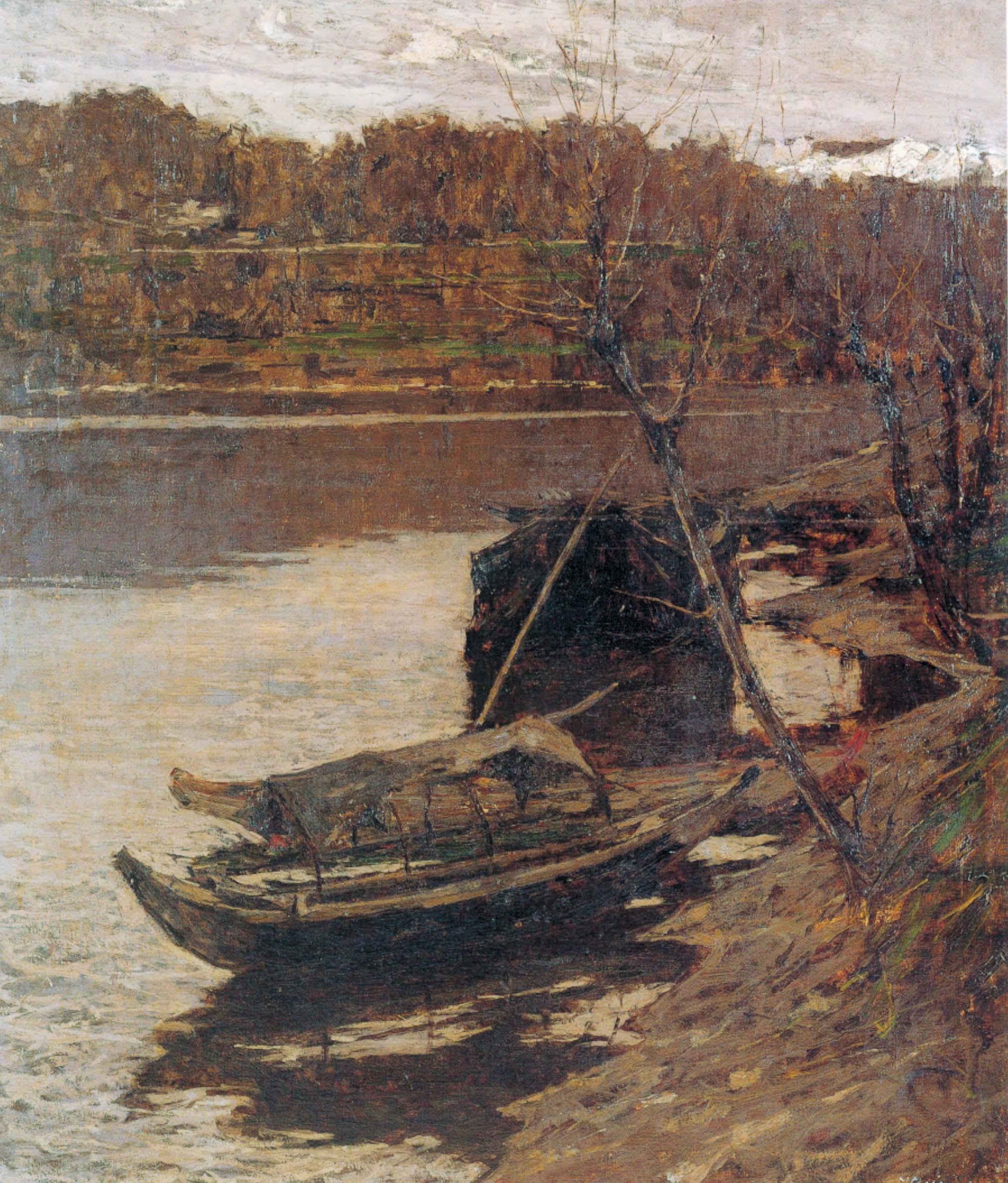 """""""Barche sulla spiaggia"""", 1892-93 circa"""