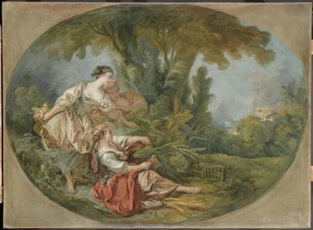 Le ragazze catturano gli ucchelli, Boucher
