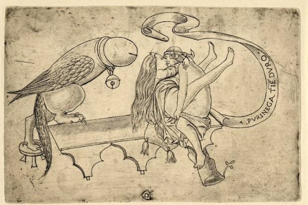 Incisione erotica lombarda del XVI secolo