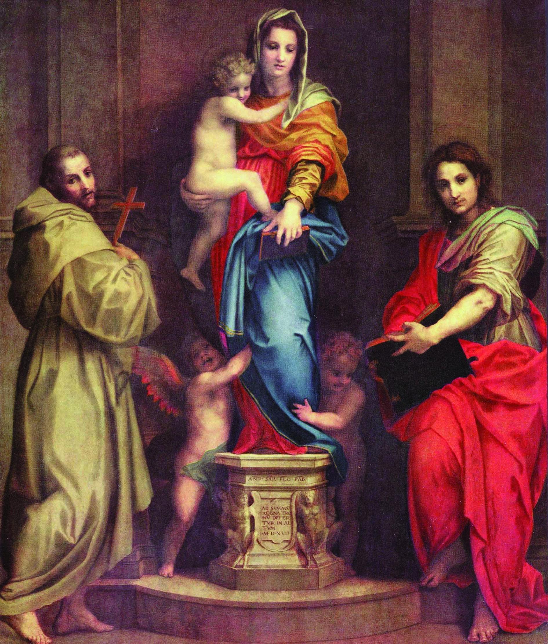 Dipinti nei quali, come modella, appare Lucrezia, la moglie di Andrea del Sarto