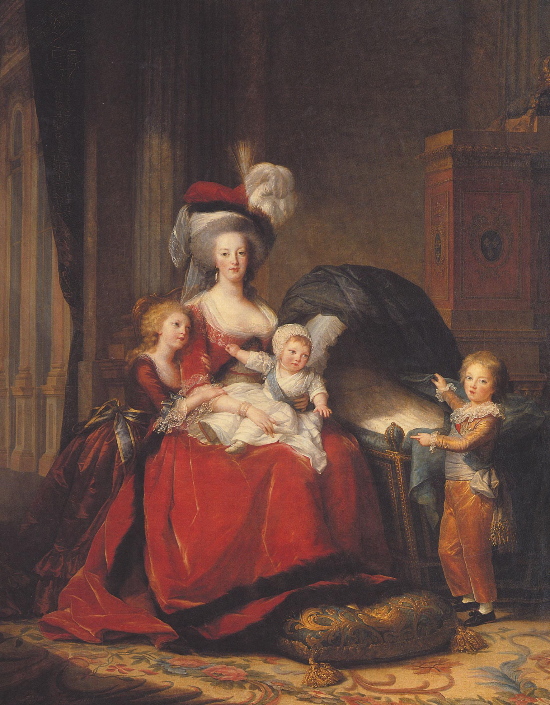 """""""Ritratto di Maria Antonietta e dei suoi bambini"""""""