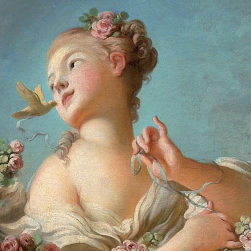 Una giovane donna libera l'uccello dalla sua gabbia, Fragonard