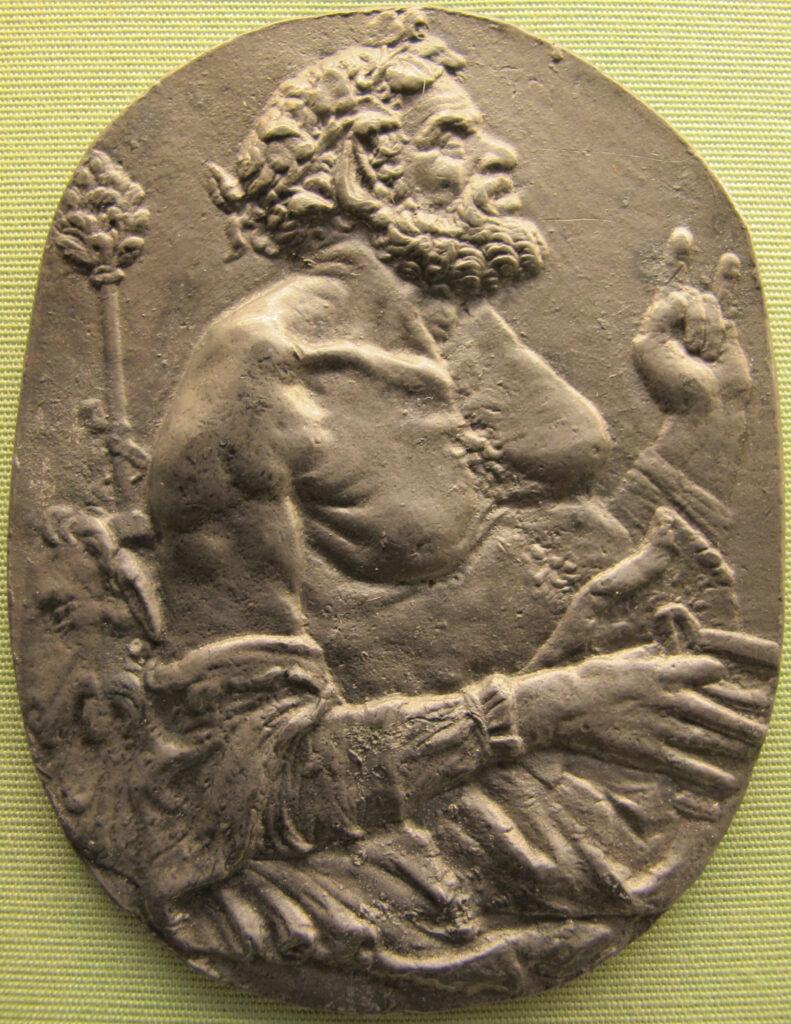 scongiuri satiro con una coppa e un tirso fine secolo XV