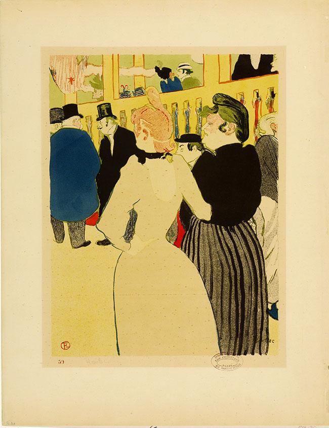 Henri de Toulouse-Lautrec At the Moulin Rouge, La Goulue and her sister 1892 Lithograph (in six colours) on wove paper, 64,2x49,7 cm Budapest, Galleria Nazionale (Szepmuveszeti Muzeum) ©Museum of Fine Arts, Budapest 2015