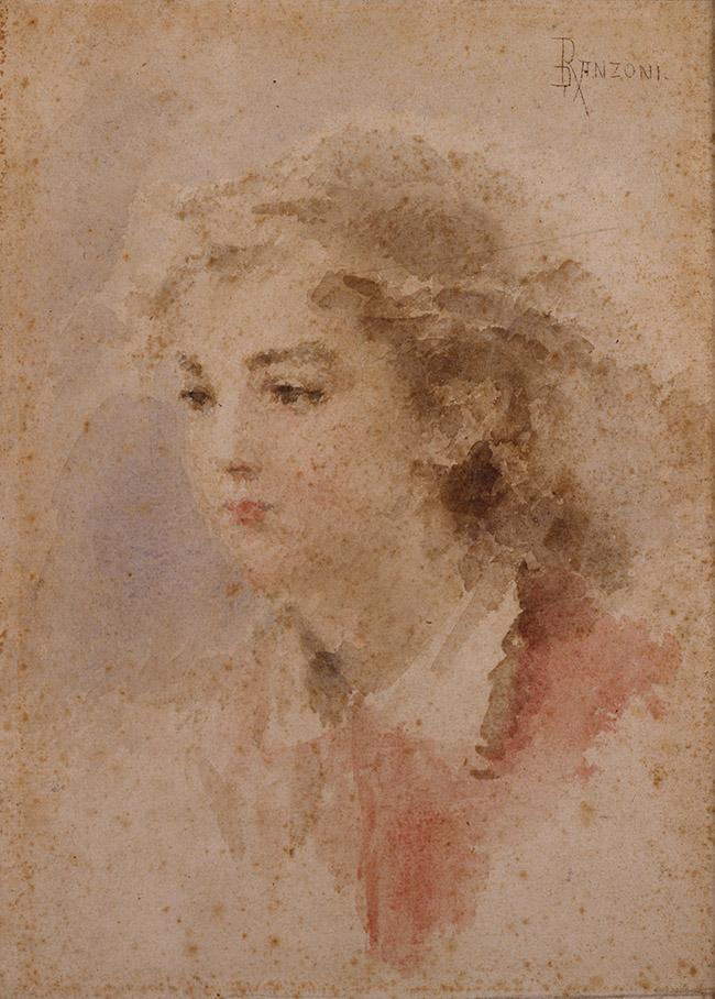 Daniele Ranzoni Giovinetta, Post 1880 Acquarello, 27,5 x 37 cm Musei Civici, Pavia