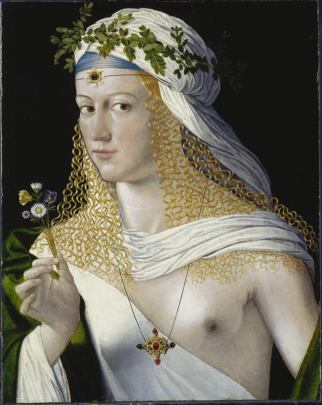 Bartolomeo Veneto, Ritratto di donna - Francoforte, Städel Museum Städel Museum - U. Edelmann - ARTOTHEK