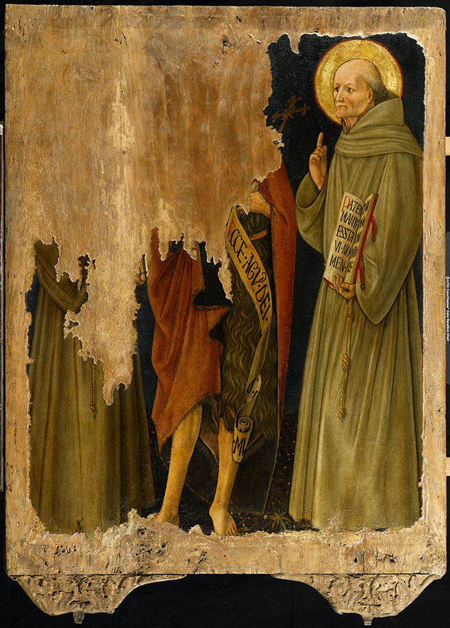 Antonio da Fabriano, Madonna della Misericordia, verso