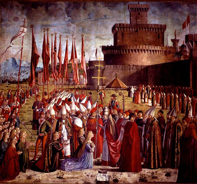 Carpaccio Vittore - Incontro con Papa Ciriaco (577)