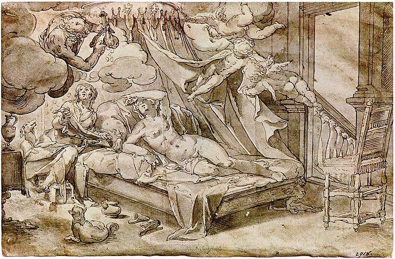 Joachim Wtewael (1566 -1638), Danae