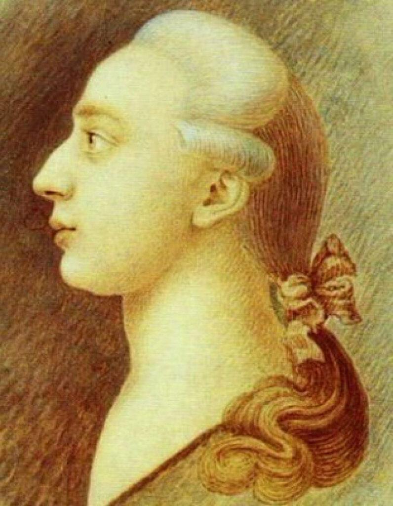 Francesco Casanova, Ritratto di Giacomo casanova, 1750-1755