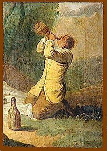 Francesco Casanova, Uomo che beve
