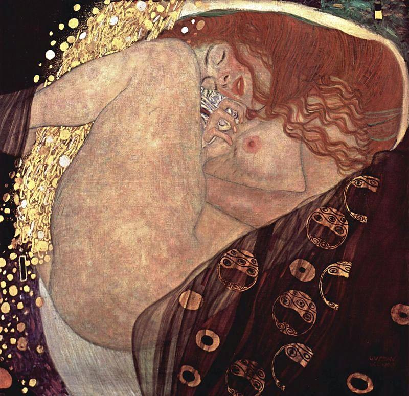 Gustav Klimt Danae, 1907,
