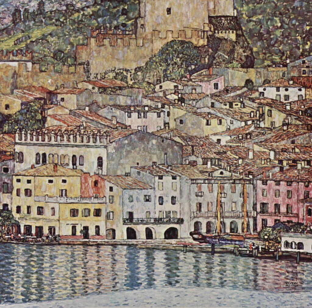Gustav_Klimt Vue de Malcesine, huile sur toile, 1913