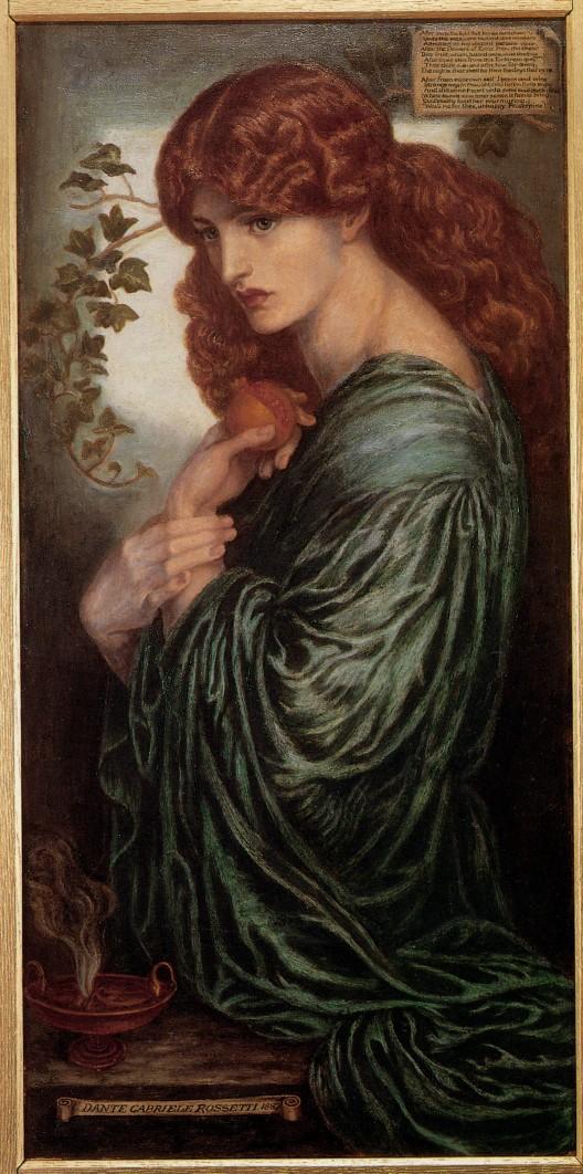 Due versioni del quadro dedicato a proserpina, dipinte da Dante Gabriel Rossetti