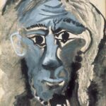 Autoritratto/ Selfportrait, 1967 gouache e inchiostro di china/ gouache and indian ink  75 x 56,5 cm