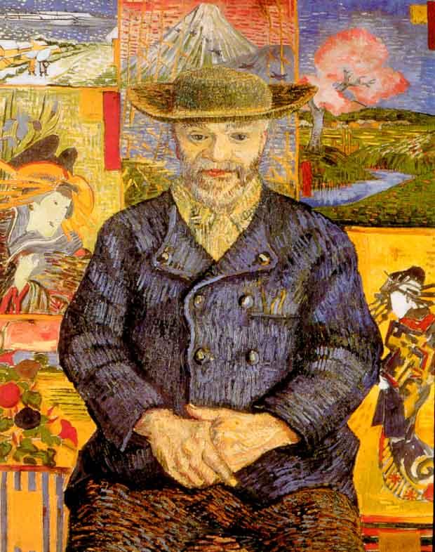 Vincent Van Gogh, Ritratto di Père Tanguy, 1887-1888