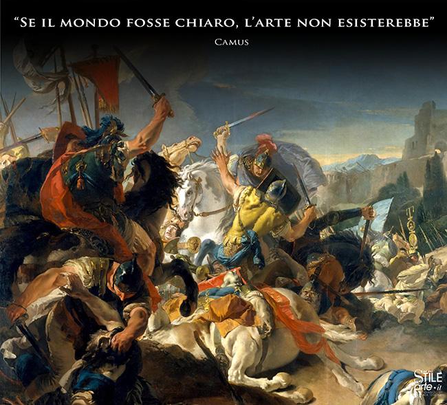 Giovanni Battista Tiepolo, La Battaglia di Vercelli