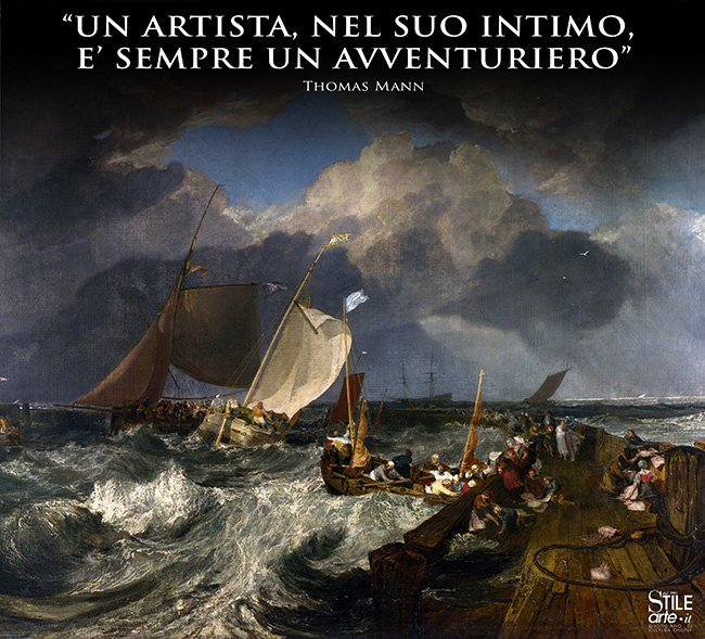 William Turner, Il molo di Calais, 1803