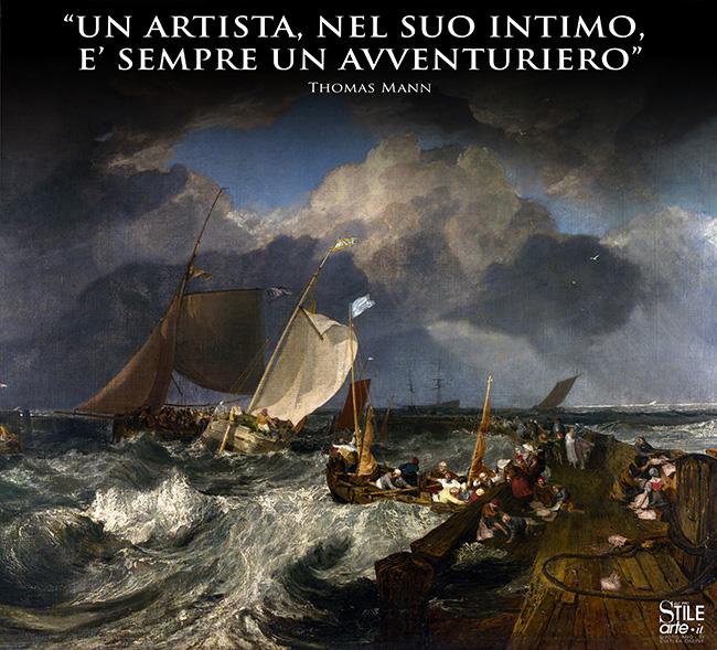 William Turner, Il molo di Calais, 1803
