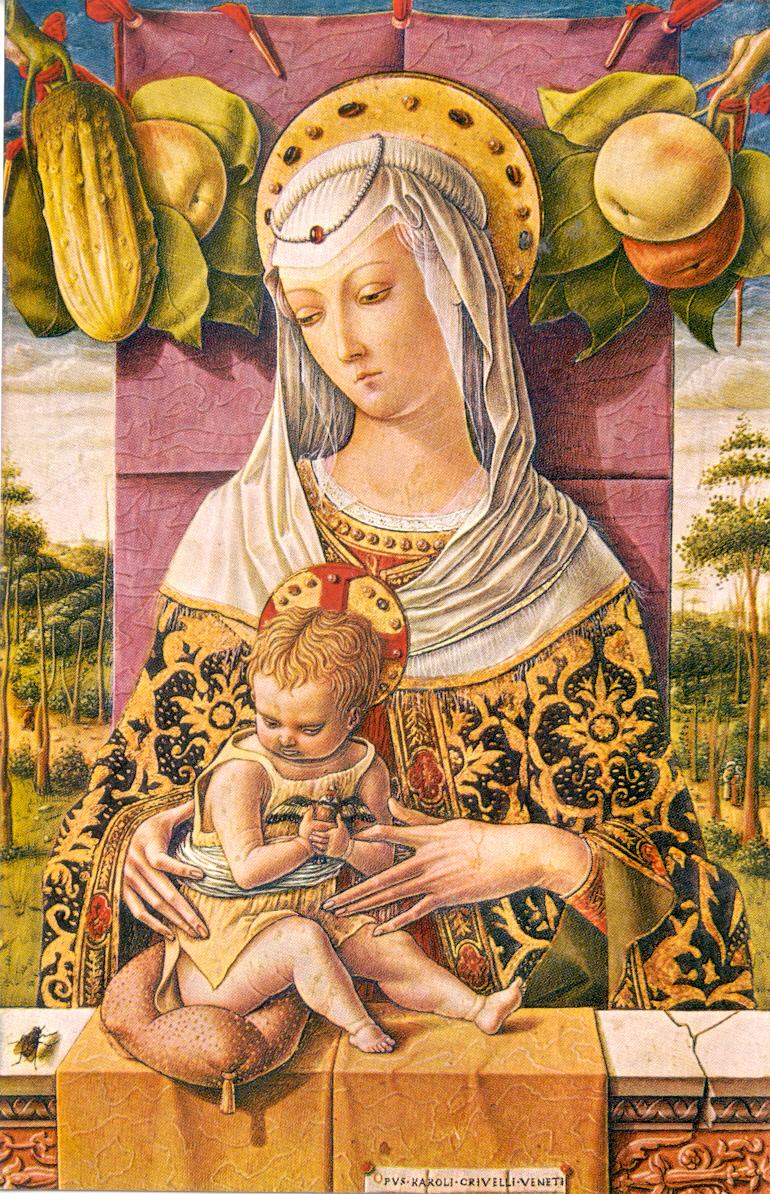 Carlo Crivelli, Madonna con il Bambino, 1480, tempera e oro su tavola
